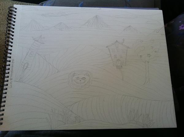 Lines III: Dreamscape (Sketch)