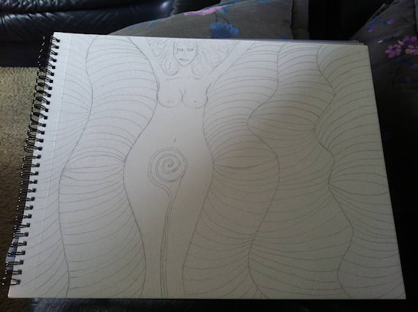 Lines II: Mother Earth (Sketch)