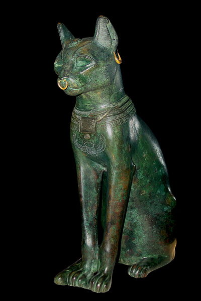 Gayer-Anderson Cat, British Museum. Made of Bronze, from the Late Period about 664-332 BC.