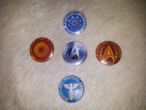 Starfleet Academy departmental buttons