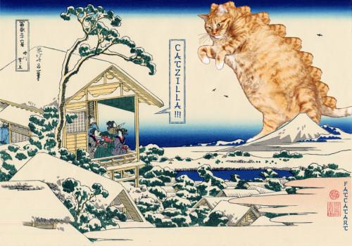 Hokusai_Tea_house_at_Koishikawa._The_morning_after_a_snowfall-catzilla-w