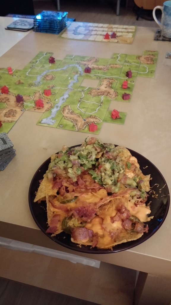 Nachos and Carcassonne
